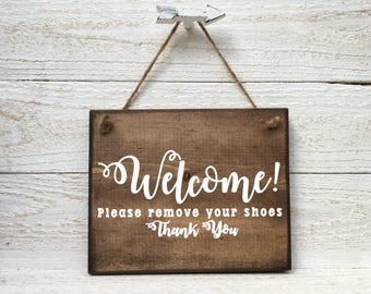 Welcome Please Remove Your Shoes Sign, Remove your shoes sign, Remove your shoes door sign, Please remove your shoes sign, remove shoes sign