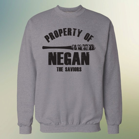 "The Walking Dead ""Property Of Negan"" Negan Lucille Sweater S-3XL Available TWD Sweatshirt"