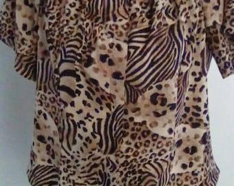 Vintage Redesigned leopard blouse