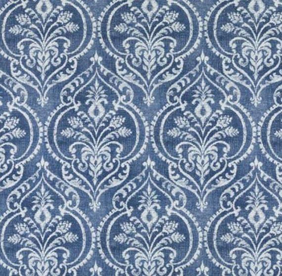 Dark Blue Batik Upholstery Fabric For Furniture Navy Blue