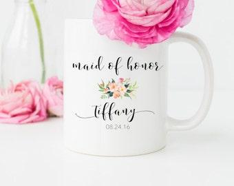 Maid of Honor Mug, Custom Mug, Maid of Honor Gift, Thank you gift, Wedding mug, gift for maid of honor, mugs, Coffee Mug, Wedding mug
