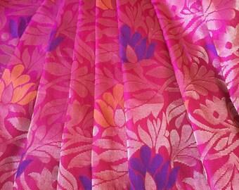 Georgeous pure silk uppadda saree with blouse piece