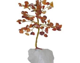 Tree of life 100 carnelian stones