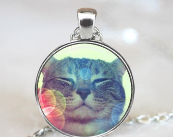 Dreamy Kitty Necklace Cat Jewelry - Cat Pet Necklace Gift For Cat Lady - Cute Kitty Pendant Cat Necklace - Kitty Gift Pet Jewelry Necklace
