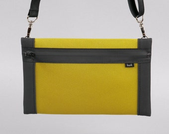 Bag, shoulder bag, clutch, yellow