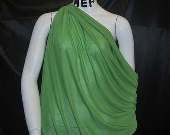 Italian Tencel Semisheer Jersey Knit Fabric Ecofriendly Gorgeous Leaf Green