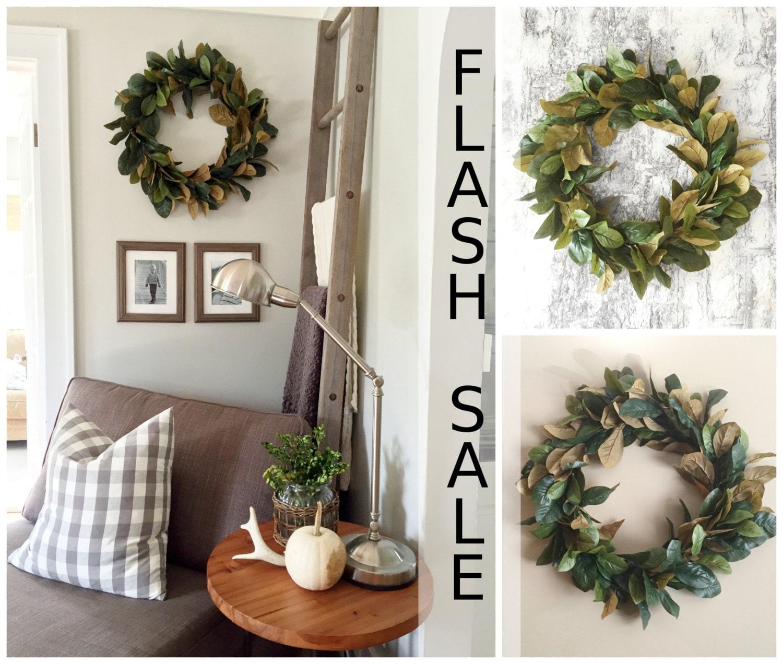 Flash Sale Home Decor: FLASH SALE Magnolia Wreath Home Decor Farmhouse Wreath