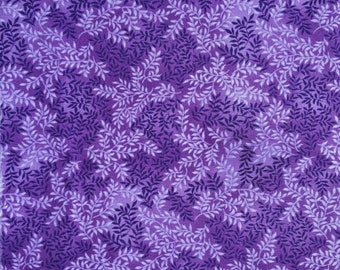 Purple with Vines Fabric Fat Quarter