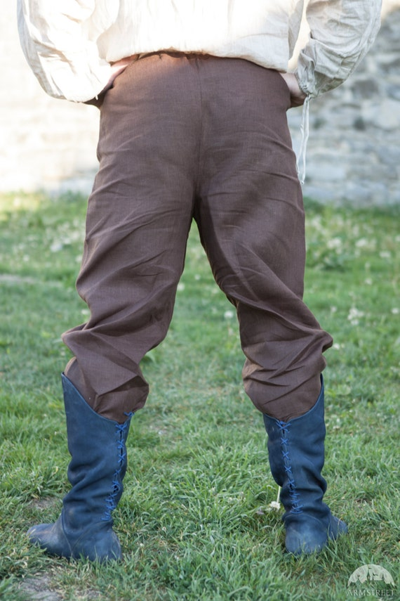 In Stock! Ready to Ship! Fixed Sizes! Linen Viking Pants; Men's Viking Pants; Linen Pants; Medieval Pants Y8Dnx8gUCq