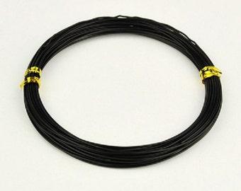 Aluminum wire 1mm black 10m