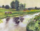 Farm Painting - Print fro...