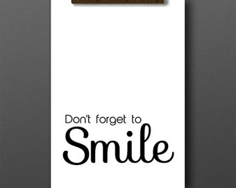 Smile quotes, inspirational quotes, don't forget to smile, bedroom art, home decor, typography print, inpirational poster, quotes, smile art