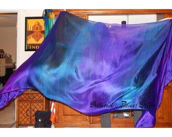 "Sahariah's Silk Belly Dance Veil Rectangle Original ""Killer Silk"" 3 Yard Rectangle Veil Tribal Streaks Markings Wild Tribal Veil"