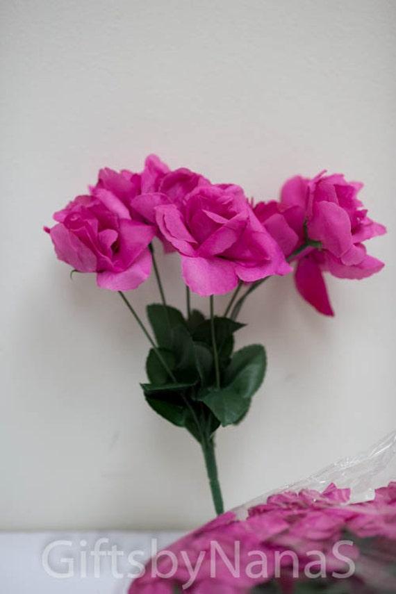Hot pink silk roses 42pc fuchsia silk flowers fushia silk roses hot pink silk roses 42pc fuchsia silk flowers fushia silk roses begonia silk flowers begonia pink silk roses wholesale silk flowers from giftsbynanas mightylinksfo