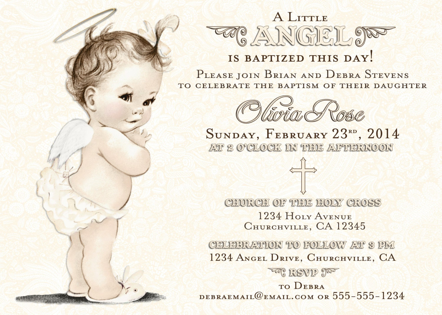 Christening Invitations for Girl Christening Invitation