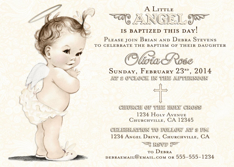 Baptism invitation for girl christening invitation for girl zoom stopboris Gallery