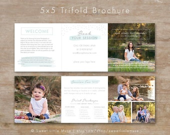 Trifold Template Etsy - Mini brochure template