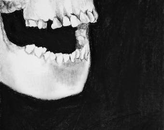 "Swallow Me Whole 6"" x 8"" Giclee Charcoal Art Print"