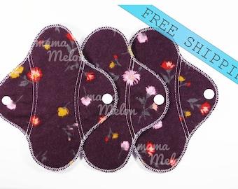 "Set of 2 6""/ 7""/ 8""/ 9"" Reusable Cloth Pad Cloth Pantyliner Washable Cloth Pads Flannel Cloth Panty Liners Cloth No Sanitary Pads Woman Pads"