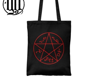 Devil's Trap Tote Bag - Red on black Supernatural