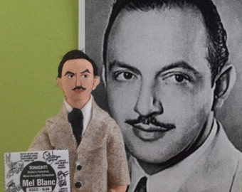 Mel Blanc Doll Miniature Man of a Thousand Voices Cartoon Historical Art Character