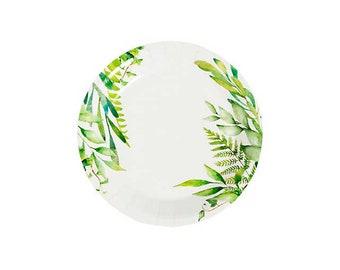 elegant greenery bridal shower plates bridal shower decorations bridal bridal shower tableware bride bridal shower