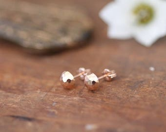 Berry Rose Gold Dazzle Earrings