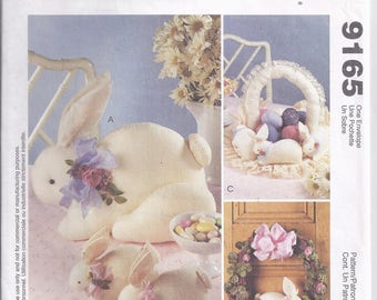 McCall's Crafts 9165 from 1998. Pattern for Large and small bunny.