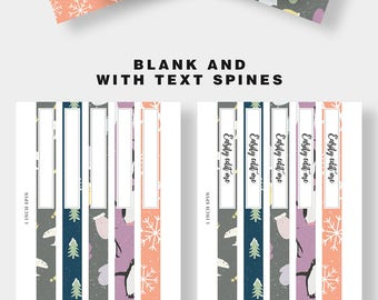 Binder Cover Printable, Set of 5 Covers + Spines, Binder Insert, Planner Cover, Teacher Binder, School Binder Insert, Printable Binder Cover