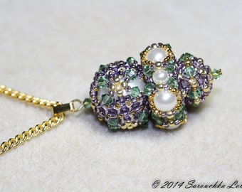 """Tutorial for movable pendant """"Royal Crown"""""""