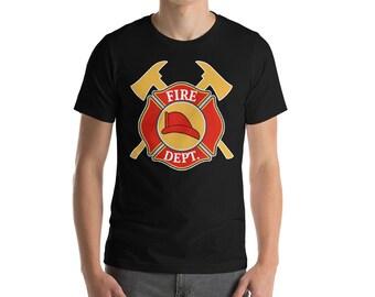 Firefighter Shirt - Fire Dept - Firefighter - Fireman Shirt - Firefighter Gift - Gift for Firefighter - Fireman -  Fireman Gift