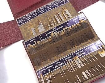 Vintage/antique English needle wallet Henry Millward - vintage ephemera / sewing notions (Ref W232)