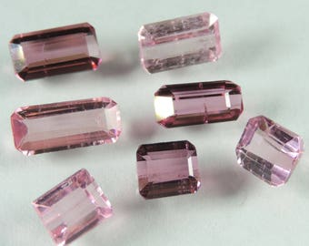 4.6 cts pink tourmaline faceted mixed lot, Afghanistan