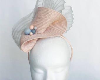 Pale Pink Fascinator