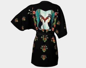 Toucan Love Kimono Robe