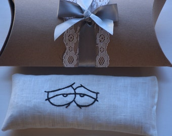 funny eyes,  eye pillow, flax seed eye pillow, bridesmaid gift, party favors