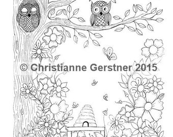 Instant Digital Download Owl Watch Over You