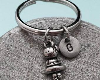 Ballerina keychain, ballerina charm, ballet keychain, personalized keychain, initial keychain, customized keychain, monogram