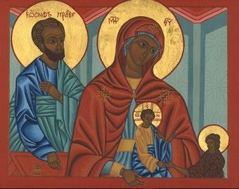 Holy Family Icon with John the Baptist