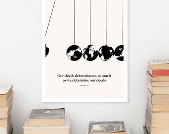 GEORGE ELIOT Literary Art Print, Adam Bede Quote Print, Bookish Gift for Her, Bookworm Gift for Girlfriend, Women Writers