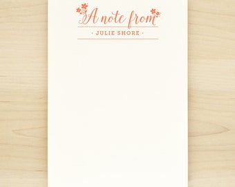 DELIGHT Personalized Notepad - Custom Letterhead Teacher Note