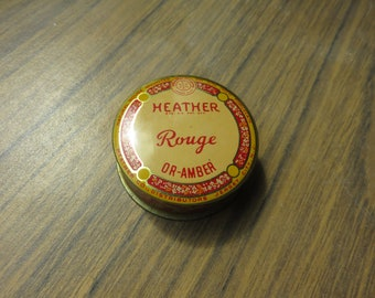 Vintage Heather Rouge Or-Amber Tin