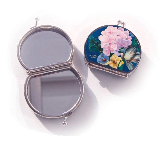 retro mirror, Eden, birthday gift, gift for her, gift mom, Woody Ellen mirror, christmas gift, valentine gift ideas, makeup mirror flower