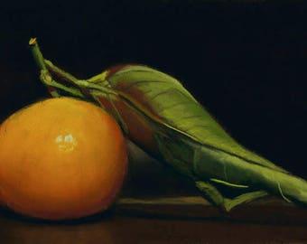 Clementine Orange still life painting
