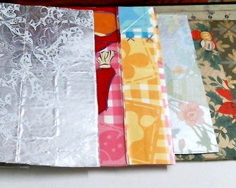 Set Of 6 Junk Journal Covers All Ready for Adding To Your Junk Journals