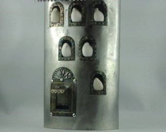 Tin plate dovecote, bird tower decoration