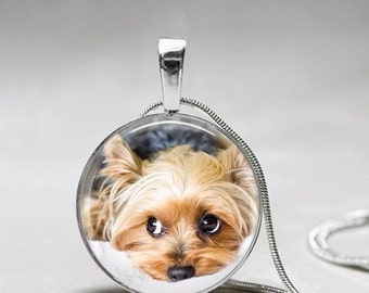 Yorkie Necklace - Dog Necklace - Puppy Necklace -Yorkshire Terrier Necklace - Pendant Gift for Dog Lover