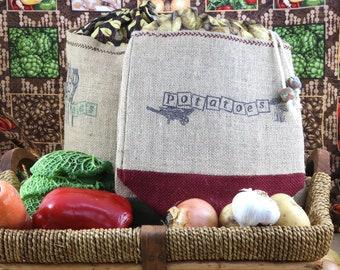 Potato sack - eco-friendly (small size).  Gemüse Sack Gemüse Tasche
