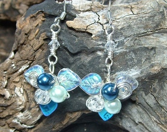 Moonlight Blue Fairy Bower Earrings