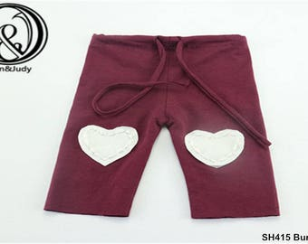 Handmade Stretch Cotton Pants with Newborn Size for Baby Shower Gift Newborn Photography Props(21X16cm)